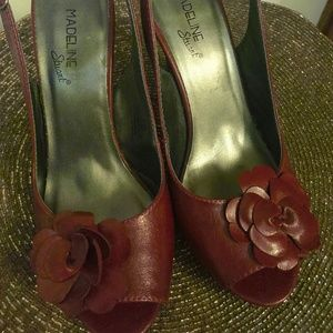 "Vintage Red Rose ""Jane""  Pumps by Madeline Stuart"